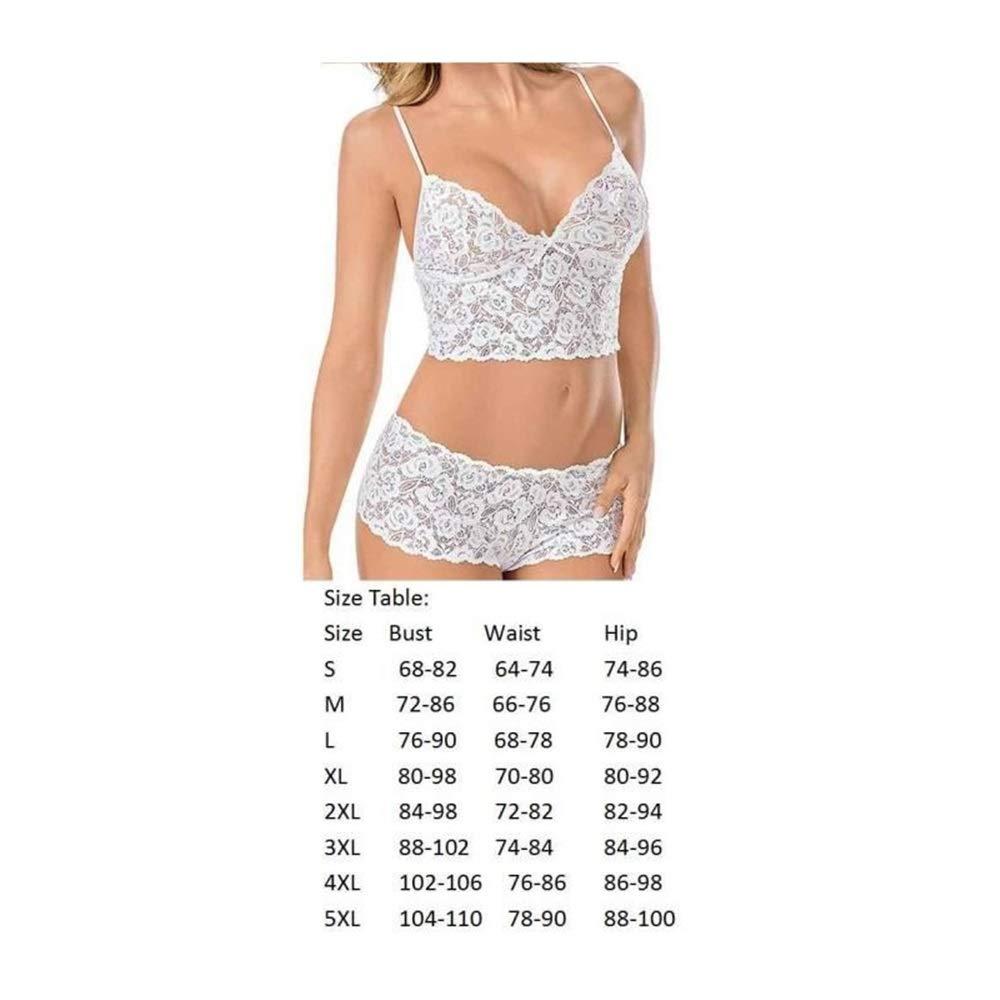 Bearony Lencería Sexy Mujeres Ropa Interior Transparente Encaje erótico Pijama Conjunto Blanco (Color : White, tamaño : Talla única): Amazon.es: Deportes y ...