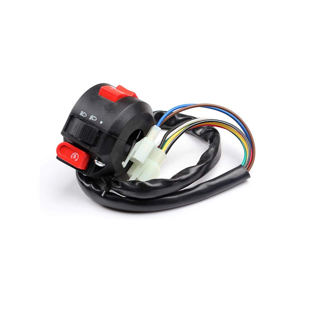 Chanoc 3 Functions Left Handlebar Switch Assembly for 50cc 70 cc 90cc 110 cc 125cc 150cc ATV Quad 4 Wheeler Taotao Sunl Coolster
