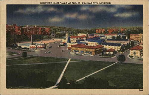Country Club Plaza at Night Kansas City, Missouri Original Vintage - Plaza Country