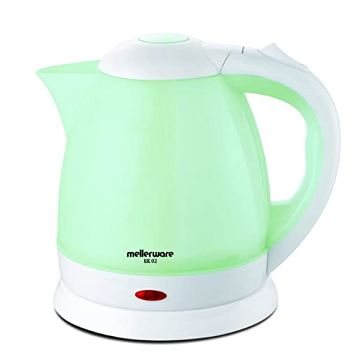 Mellerware EK 02 1.5-Litre Cordless Electric Kettle (White/Light Green) Kettles at amazon