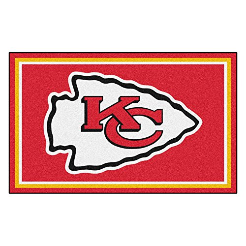FANMATS NFL Kansas City Chiefs Nylon Face 4X6 Plush Rug by Fanmats