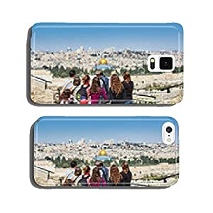 Tourists are looking at the beautiful view of Jerusalem cell phone cover case iPhone5
