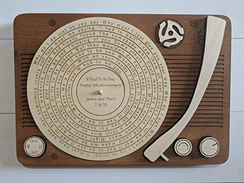Custom Record Player music gift wall hanging