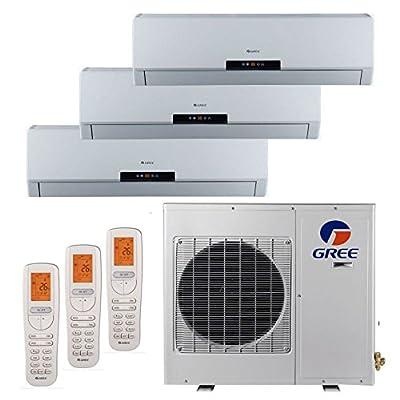 Gree MULTI24BNEO301 - 24,000 BTU +Multi Tri-Zone Wall Mount Mini Split Air Conditioner Heat Pump 208-230V (9-9-12)