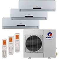 Gree MULTI24BNEO301 - 24,000 BTU +Multi Tri-Zone Wall Mount Mini Split Air Conditioner Heat Pump 208-230V (9-9-12)