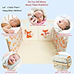 Qianle-6pcs-Baby-Crib-Cradle-Bumper-Breathable-Nursery-Bedding-Set-30by30cm-Fox