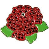 Navika Swarovski Crystal Ball Marker/hat Clip - Rose Red