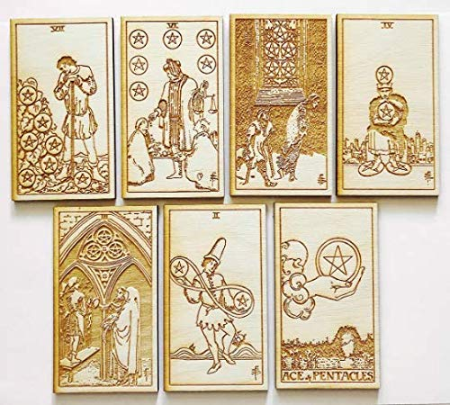 LumEngrave Wood Engraved Tarot Card Deck Rider Waite Collectible 78 Wooden Card Set Major & Minor Arcana Tarot Cards Occult Gift Astrology Gift (Major Arcana (22)) by LumEngrave (Image #6)