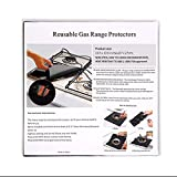 Gas Stove Burner Covers 10 Pack- XZSUN 0.2mm Double Thickness Reusable Gas Range Protectors For Kitchen&Cooking