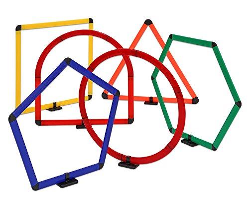 Geometrie-Set mit 6 großen Formen, Mathematik, 6 verschiedene 70 cm hohe geometrische Formen, inkl. abnehmbaren Ständer