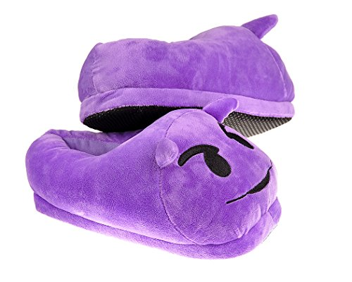 Demon Adult Face EMOJ Plush Cute Slippers Unisex Winter for Smiley Indoor Emoticon DSstyles vqAa5w75