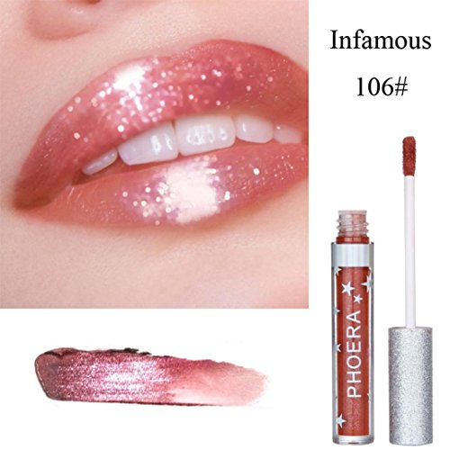 Oksale® Matte To Glitter Liquid Lipstick Waterproof Lip Glo