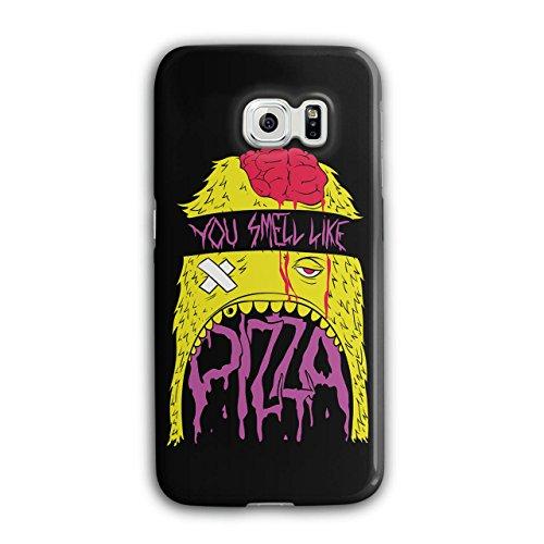 Smell Pizza Zombie Dead Hungry NEW Black 3D Samsung Galaxy S6 Edge Case | Wellcoda (Zombie Pizza)