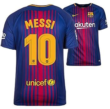 14cea96bd3 Camiseta Hombre Nike FC Barcelona 2017 - 2018 Home - Messi 10  Amazon.es   Deportes y aire libre