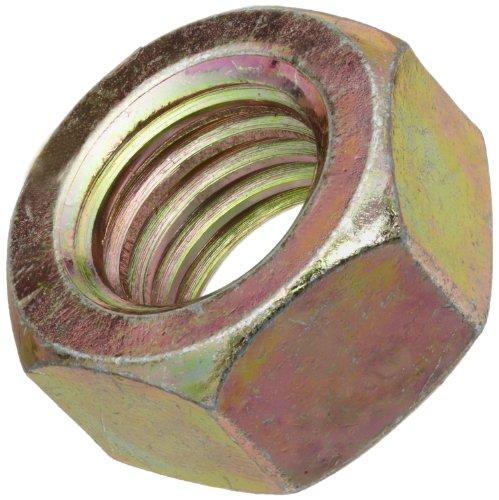 Steel Hex Nut, Zinc Yellow-Chromate Plated Finish, Grade 8, 1-3/8