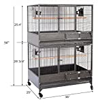 Mcage NEW Large Double Stackers 1/2 Bar Spacing Heavy Duty Breeding Breeder Parrot Aviary Bird Cage 10026 A Larger Image