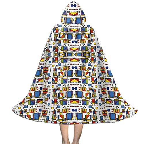 Channeling Mondrian Fabric (3422) Kids Hooded Cloak