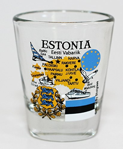 Estonia EU Series Landmarks and Icons Shot Glass