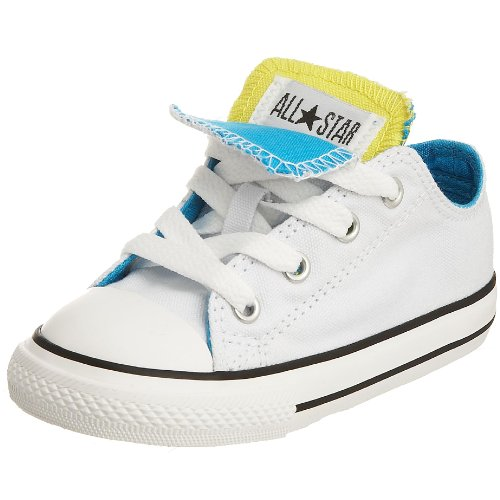 Unisex Sneaker Tongue Double Vivid White Yellow All Blue Chuck Blazing Converse Kinder Taylor Star xRUUgp