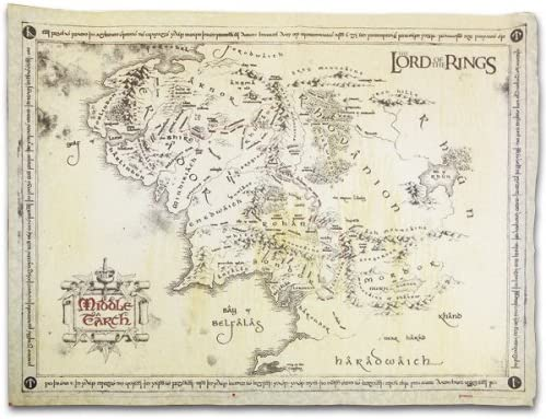The Lord Of The Rings - Vintage Look Parchment Print / Movie Poster (Map Of  Middle Earth) (Size: 26\