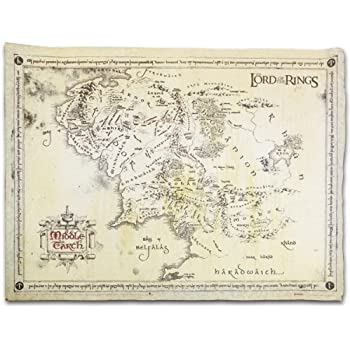 Amazon Com The Lord Of The Rings Vintage Look Parchment