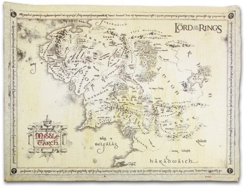 Amazoncom The Lord Of The Rings Vintage Look Parchment Print