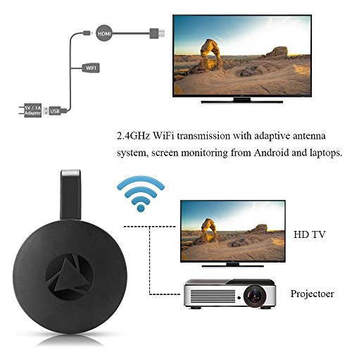 WiFi Display Dongle Wireless Mini Display Receiver Mirror Dongle HDMI Adapter TV Miracast DLNA Airplay for iOS iPhone iPad Android Device Smartphone Macbook by XMBest (Image #2)