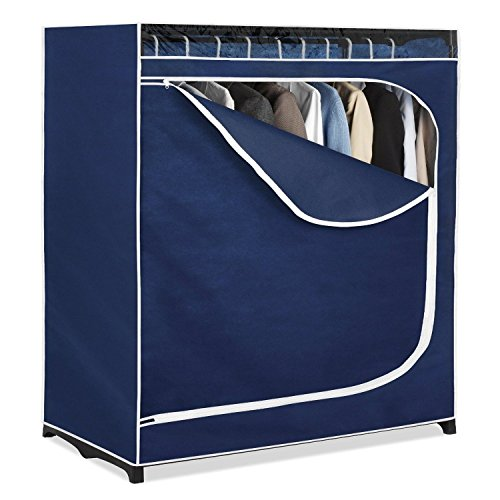 Generic YC-US2-160411-105 <8&33441> elf Rodnger Clothe Hanger Clothes Closet Organizer Portable Wardrobe Rack Storage Garment Shelf Rod Closet Orga by Generic