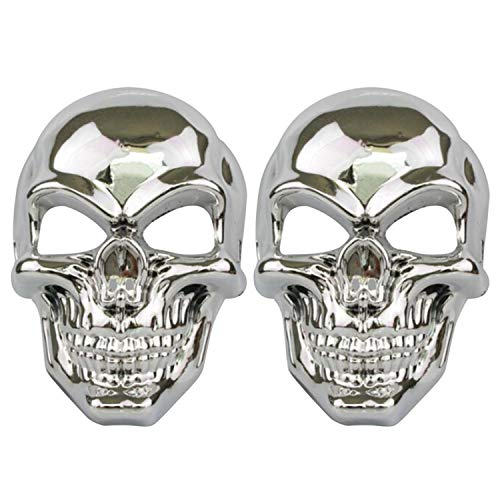 2pcs Halloween Scary Skeleton Mask Plated Full Face Mask Ghost Death Masks for Costume Cosplay -