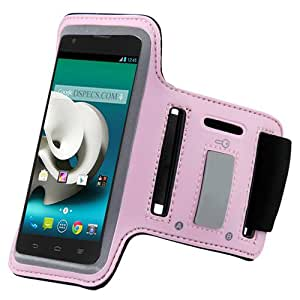 Baby Light Pink ArmBand Workout Case Cover For ZTE Grand x/z777 with Free Pouch