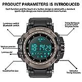 Maeffort Smart Watch, Outdoor Sport Watch Bluetooth Waterproof IP68 for HTC Sony Samsung LG Google Pixel Android Phones and iPhone 5 5S 6 6 Plus 7 Smartphones Black