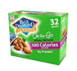 Blue Diamond Almonds 100 Calories Per Bag - 32 Grab and Go Bags,.625 Oz (Individual),20 Oz (net Weight) (3 Pack)
