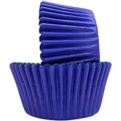 Regency Wraps Greaseproof Baking Cups, Solid Royal Blue, 40-Count, Standard.