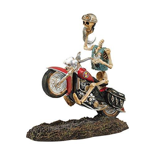 [Department 56 Snow Village Halloween Headless Harley Rider Accessory, 3.98