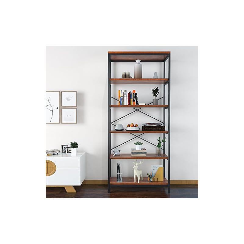 Modrine Bookcase Book Shelves,Vintage 5-