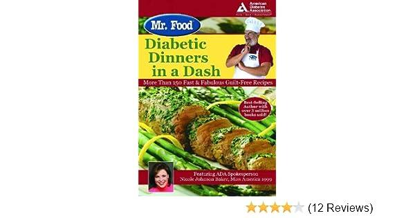 Mr Food Diabetic Dinners In A Dash Art Ginsburg Nicole Johnson