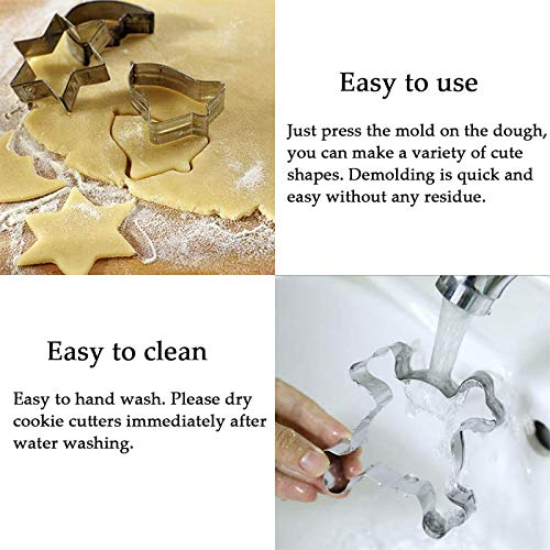 Easter Cookie Cutters, 8PCS Stainless Steel Cookie Cutter Set Biscuit Moulds for Kids Adults Baking, Bunny Chick Egg…