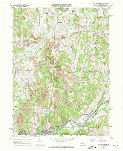 - YellowMaps New Bethlehem PA topo map, 1:24000 Scale, 7.5 X 7.5 Minute, Historical, 1969, Updated 1972, 27 x 22.1 in - Paper