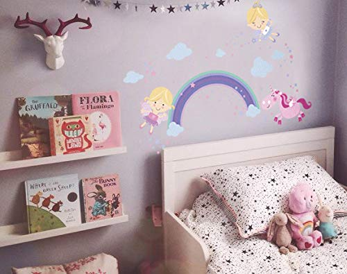 Fairy Unicorn Baby Girl Room Décor Stickers - Princess Playroom Wall Decals with Free Gift! 6