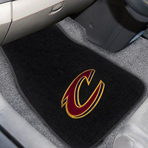 Car Cavaliers Mats (Fanmats 17206 NBA Cleveland Cavaliers 2-Piece Embroidered Car Mat)