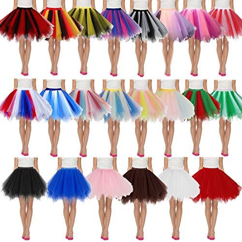 Pettiskirt Jupe Chic Ballet Tulle Courte Couleurs Filles Variées Élastique Jupes Taille Plusieurs Plissée Couleur Tutu Femme Mini Danse Mode Femmes Avec A Robe De XnfEwqT