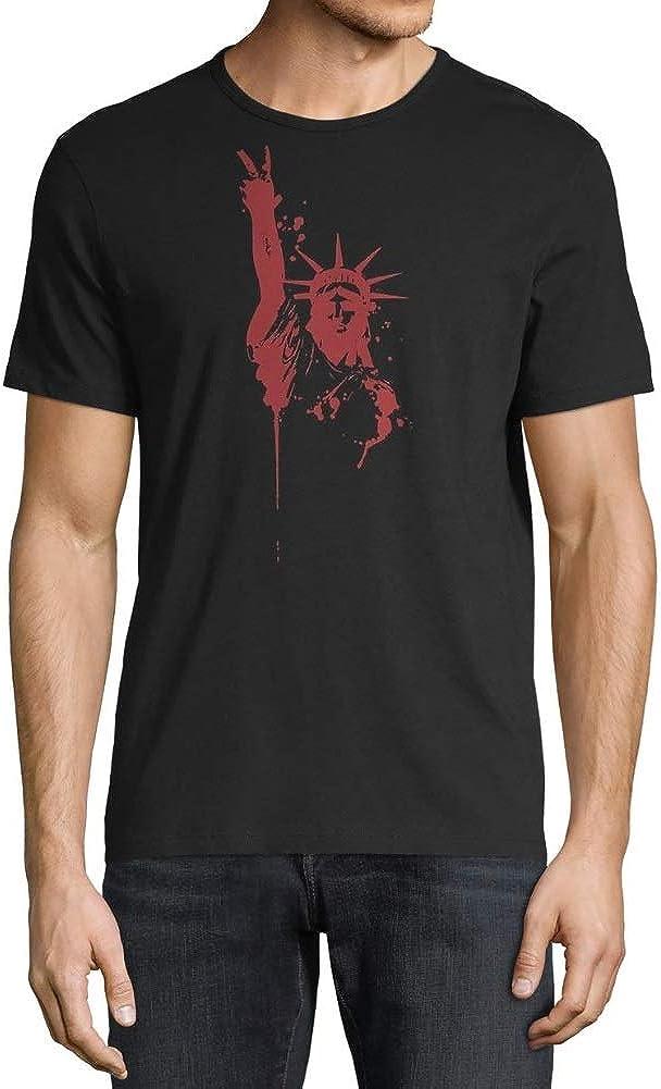 John Varvatos Star USA Mens Statue of Liberty Peace Sign Graphic T-Shirt