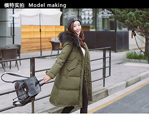 Generic Special-season Korean new long section thick winter jacket female loose waist was thin oversized fur collar coat for women girl by Generic (Image #5)