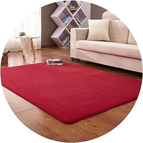 Memory Foam Floor Bath Mat Anti-Slip C Velvet Living Room Area Rugs Entrance Floormat C Fleece Carpets Customiz,Wine red,500mm x 1200mm