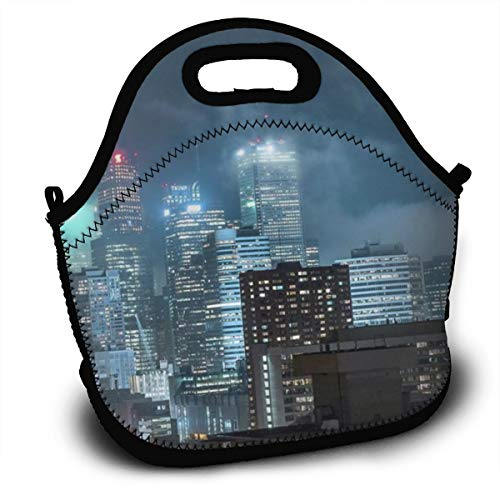 Dejup Lunch Bag Toronto Tote Reusable Insulated Lunchbox, Shoulder Strap with Zipper for Kids, Boys, Girls, Women and Men ()