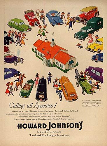 Johnsons Howard Ice Cream (Calling All Appetites! Howard Johnson's Restaurant & Ice Cream Shop ad 1954 L)