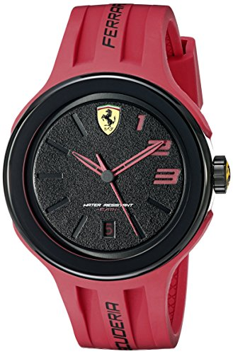 Ferrari Men's 830220 FXX Logo-Accented Watch with Red - Logo New Ferrari