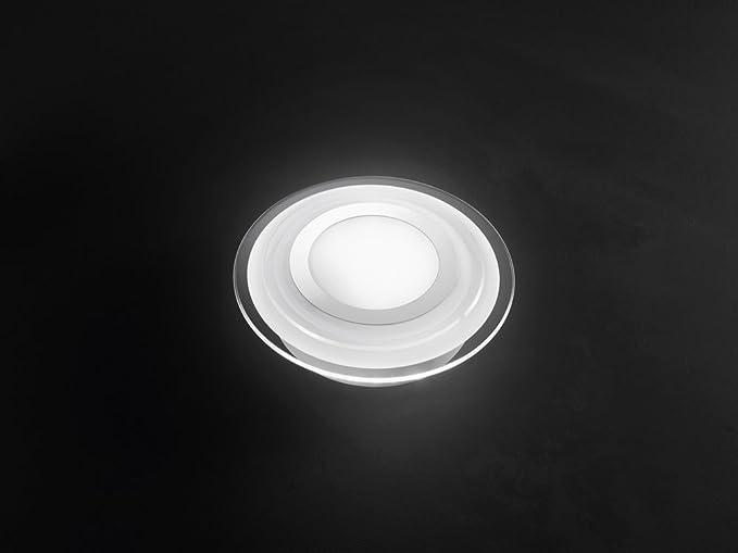 Plafoniere Vetro Trasparente : Plafoniera in vetro a led modello perenz