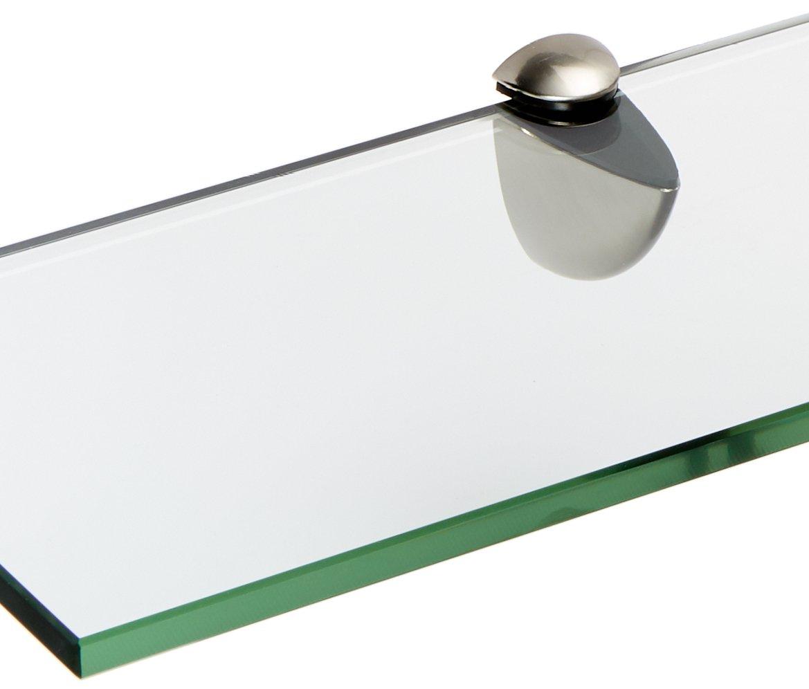 Spancraft Glass Peacock Glass Shelf, Brushed Steel, 6 x 36 by Spancraft Glass (Image #2)