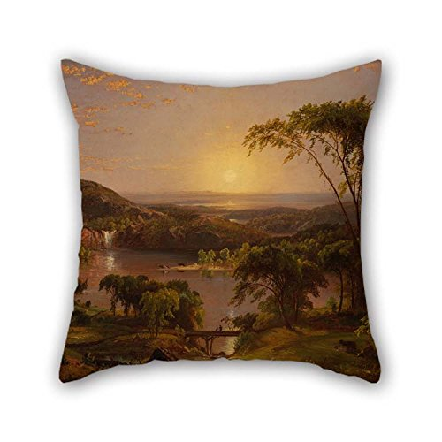 Oil Painting Cropsey, Jasper Francis - Summer, Lake Ontario Throw Cushion Covers 18 X 18 Inches / 45 By 45 Cm Gift Or Decor For Bar Family Home Play Room Home Office Couples - Double (Jasper Bar Chair)